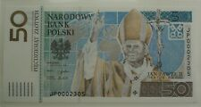 2006 50 zlotych Pope John Paul II Commemorative Banknote Poland Polen UNC