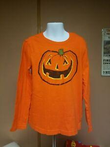 Boys orange long sleeve T-shirt Sz 7 Jumping Beans Brand pumpkin