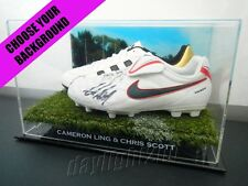 ✺Signed✺ CAMERON LING & CHRIS SCOTT Boots PROOF COA Geelong Cats 2018 Guernsey