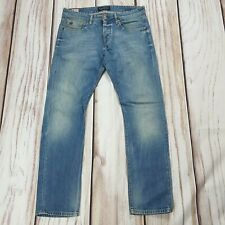 Mens Scotch and Soda Ralston Mid Blue Jeans Slim Straight W32 L32