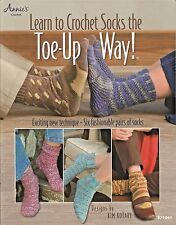 Learn to Crochet Socks the Toe Up Way Crochet Pattern Technique Annies Attic NEW