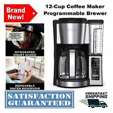 12-Cup Coffee Maker Programmable Brewer XL Showerhead Removable Water Reservoir
