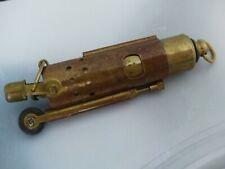 Altes Messing Schieber Benzin Feuerzeug Lighter Top Sammlerstück ungezündet