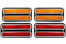 (4) 68-72 Chevy GMC Truck LED Front Amber & Rear Red Side Marker Light Lamps Set