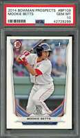 2014 bowman prospects #bp109 MOOKIE BETTS boston red sox rookie card PSA 10