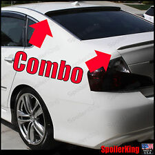 COMBO (Fits: Infiniti M35 M45 2006-10) Rear Roof Wing & Trunk Spoiler 284R/244L