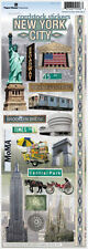 PAPER HOUSE NEW YORK CITY #2 TRAVEL VACATION CARDSTOCK SCRAPBOOK STICKERS