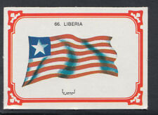 Monty Gum 1980 Flags Cards - Card No 66 - Liberia  (T661)