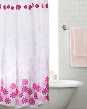 Peach Flower Design Bathroom shower curtain 180 * 180cm Waterproof With 12 Hooks