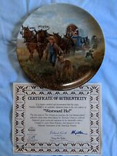 Edwin M. Knowles China Westward Ho Collector's Plate