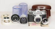 KODAK Retina Reflex S 35mm Viewfinder Camera  with 4x Lenes Bundle (5022BL)