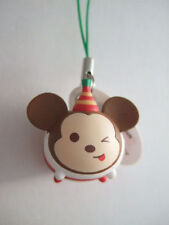 Xmas Party Mickey type-C Strap Figure Key Chain Disney Tsum Tsum Arcade Mascot