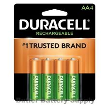 4 Duracell AA Rechargeable NiMH Batteries (2500 mAh, DX1500)