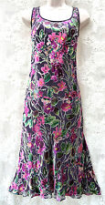 FEN WRIGHT MANSON EMBOSSE CHIFFON CRUISE COCKTIAL EVENING PARTY DRESS SIZE 12
