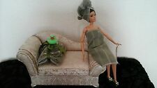 "barbie bathroom set Inc. towels, slippers, OOAK/Diorama/11-12"" doll"