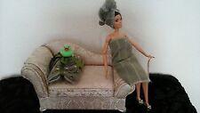 """Barbie Set da bagno inc. asciugamani, ciabatte, OOAK/diorama/11-12"""" doll"""