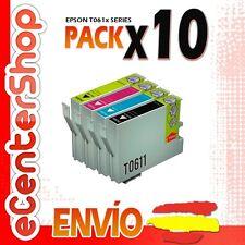 10 Cartuchos T0611 T0612 T0613 T0614 NON-OEM Epson Stylus DX3800