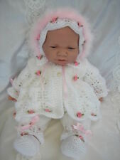 """DOLLS KNITTING PATTERN MATINEE SET FOR 16""""-19"""" DOLL PREMATURE BABY"""