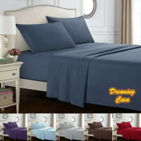Hotel Luxury 1800 Count 4 Piece Bed Sheet Set Deep Pocket Bed Sheets Set J7