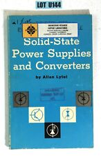 Solid-State Power Supplies And Converters By Lytel 1968 Paperback BOOK LOT U144