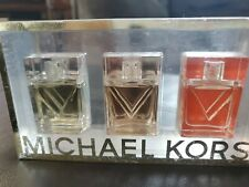 Michael Kors Perfume Coffret Trio Gift Set Present 0.17 oz Gold Rose / Coral
