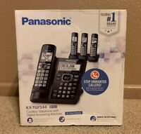 Panasonic Cordless Phone System with Answering Machine, One-Touch Call Block,