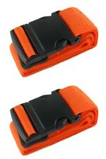 2 x Orange High Visible Adjustable Strong Safety Travel Suitcase Luggage Straps