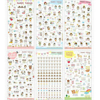 6 Feuilles/Lot Sweet Things Pvc Diary Autocollant Set Diy Stickers Cute De IY