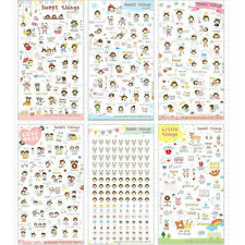 6 Sheets/lot Sweet Things PVC Diary Sticker Set DIY Stickers Kawaii Decoration5t