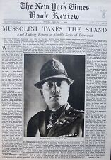 MUSSOLINI TAKES THE STAND EMILE LUDWIG JEHOL FRENCH REVOLUTION 1-1933 January 1