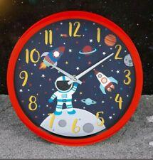 Rocket Spaceship Kids Wall Clock Astronaut Quartz