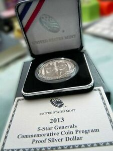 2013 P 5-Star Generals Commemorative Coin Program Proof Silver Dollar LIMITED