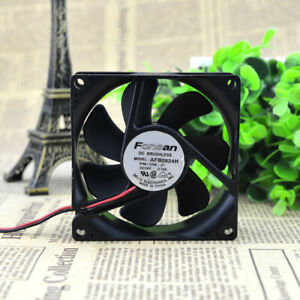 1pc Delta AFB0824H FH6-1256 24V 0.12A 8CM Double Ball 2-wire Cooling Fan