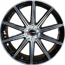 Set of 4 GWG Wheels 18 inch Black Machined MOD Rims 5x114.3 ET40 CB74.1