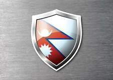 Nepal flag shield sticker 3d effect quality 7 year water & fade proof
