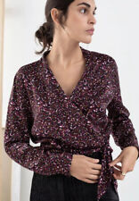 &other Stories Micro Camo Print Blouse New Size 10-12 Eur 38