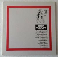 DEEP THROAT (MOTION PICTURE SOUNDTRACK) ~ 2004 US REMASTERED VINYL LP + POSTER