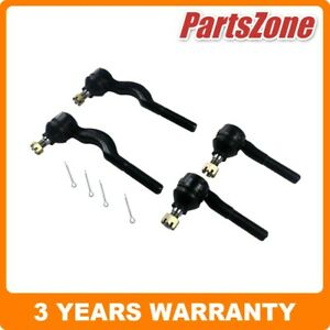 Inner Outer Tie Rod Ends Set 4 Fit for Mitsubishi Triton MK 4WD 10/1996-2006