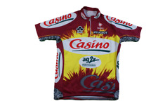 Maillot vélo rétro Casino Colnago Nalini Peugeot