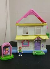 Fisher Price Loving Family Grand Doll House PINK Roof - Gently Used ,accessories