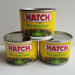 HATCH Diced Green Chiles MILD 3 Pack of Cans 4 oz Each Non GMO Gluten Free NM