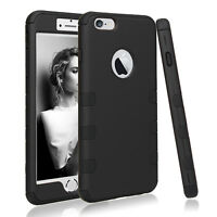 For iPhone 8 8Plus/7 7Plus/6 6s/6 6sPlus Hybrid Defender Armor Rubber Case Cover