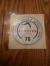 St. Charles 1976 Booster Junior Baseball Assn. Unused Decal