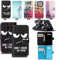 Stylish Flip Card Wallet Leather Case Cover Stand Pouch For Various Smartphones
