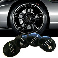 "4x 2.2"" 56mm Black Wheel Center Hub Cap Emblem Badge Decal Sticker For LINCOLN"
