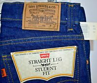 Vintage Deadstock Levis Orange Tab Student Fit 718 Jeans 25x34 Straight Leg NWT