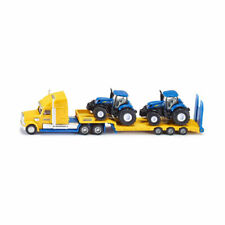 Siku 1805 US Truck with 2 New Holland Tractors Scale 1:87 Model Car New! °