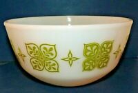 "Fire-King Green Retro Flower Nesting Mixing Bowl 7.5"" Replacement Anchor Hocking"