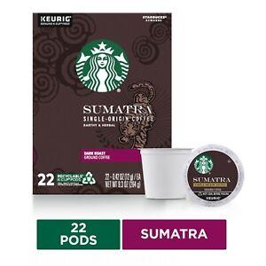Starbucks Sumatra Coffee, Keurig® K-Cup® Pods, Dark Roast, 22/Box