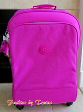 NWT Kipling Yubin Spin 81 4 Wheeled Spinner Luggage with Lock Pink Orchard